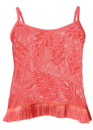 Alternate View Fringe Detail Cover-Up Top
