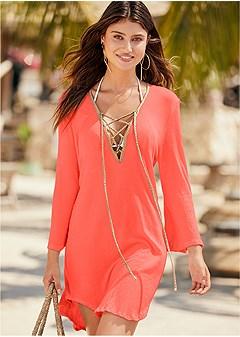 roman cover-up beach dress