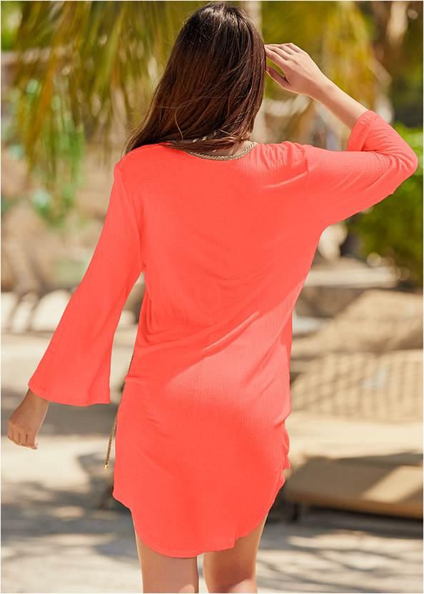 Back View Roman Cover-Up Beach Dress