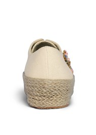 Back View Embellished Espadrilles