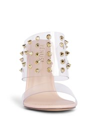 Front View Embellished Lucite Heel