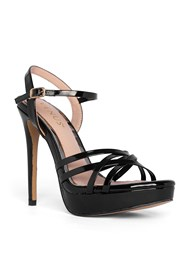 Front View Crisscross Strappy Heel