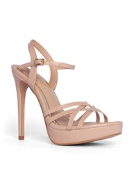 Shoe series 40° view Crisscross Strappy Heel
