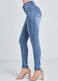 Waist down side view Reversible Jeans