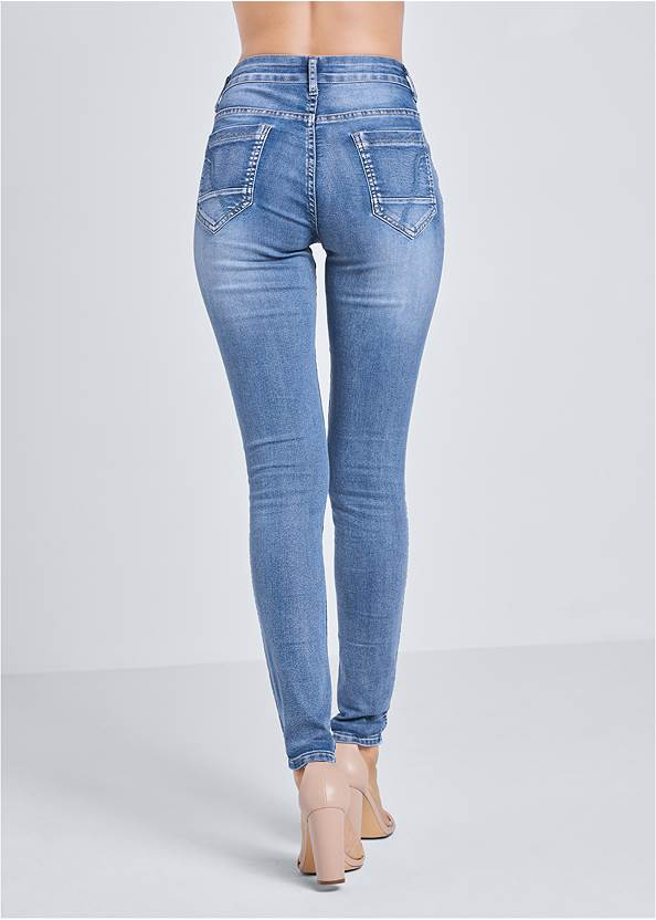 Waist down back view Reversible Jeans