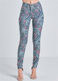 Waist down front view Reversible Jeans