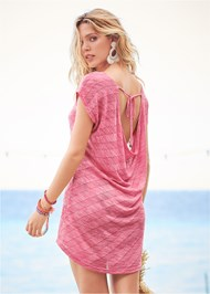 Back View Scoop Neck Cover-Up Dress