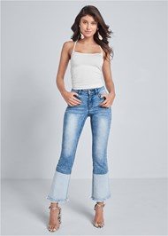 Front View Two Toned Jeans