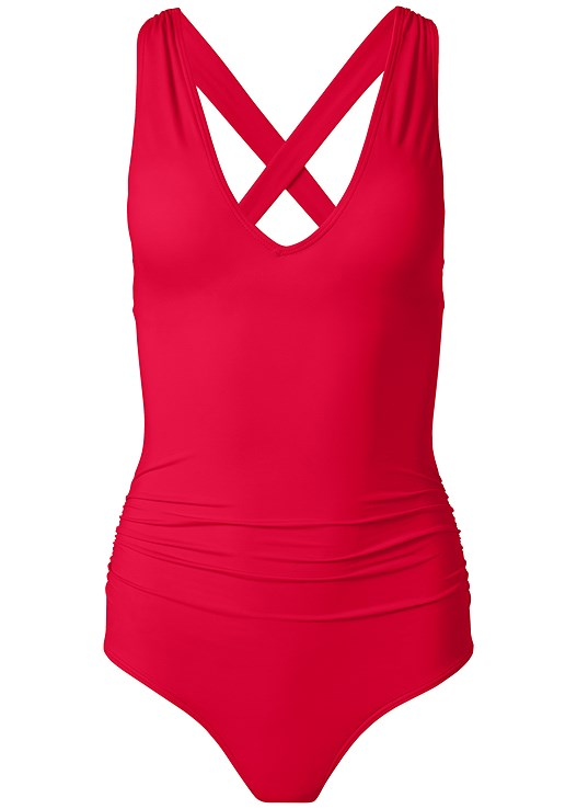 SLIMMING V-NECK ONE-PIECE