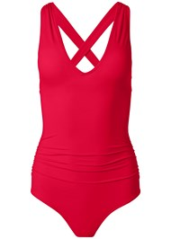 Alternate View Slimming V-Neck One-Piece