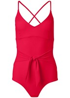 plus size slimming tie one-piece