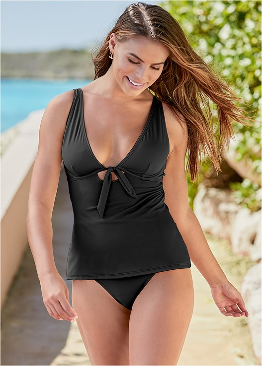 IN LOVE UNDERWIRE TANKINI,SLIMMING HIGH WAIST BOTTOM,SLIMMING CHIC HIGH WAIST BOTTOM,CHEEKY SWIM BOY SHORT,DRAPE COVER-UP ROMPER