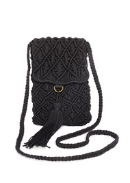 Front View Tassel Detail Bag