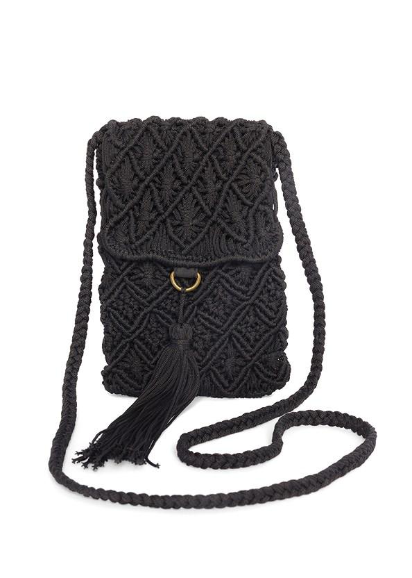 Tassel Detail Bag,Ruffle Hem Pants