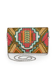 Flatshot front view Beaded Crossbody