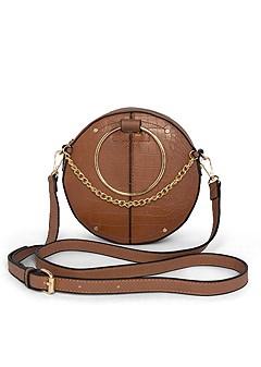 circle ring detail handbag