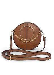 Front View Circle Ring Detail Handbag