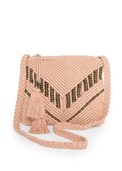 Bead Detail Crochet Bag