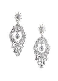 Flatshot  view Chandelier Earrings