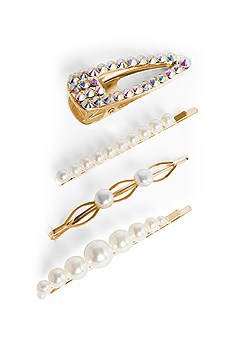embellished hair clip pack