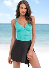 Front View Adjustable Swim Dress