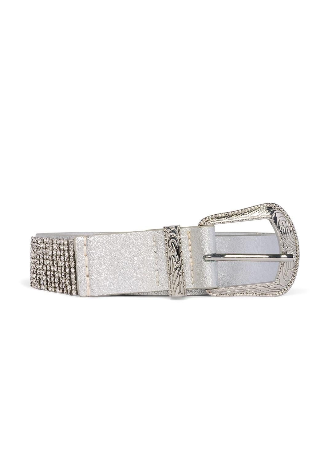 Embellished Belt,Mid Rise Color Skinny Jeans,Hoop Detail Earrings