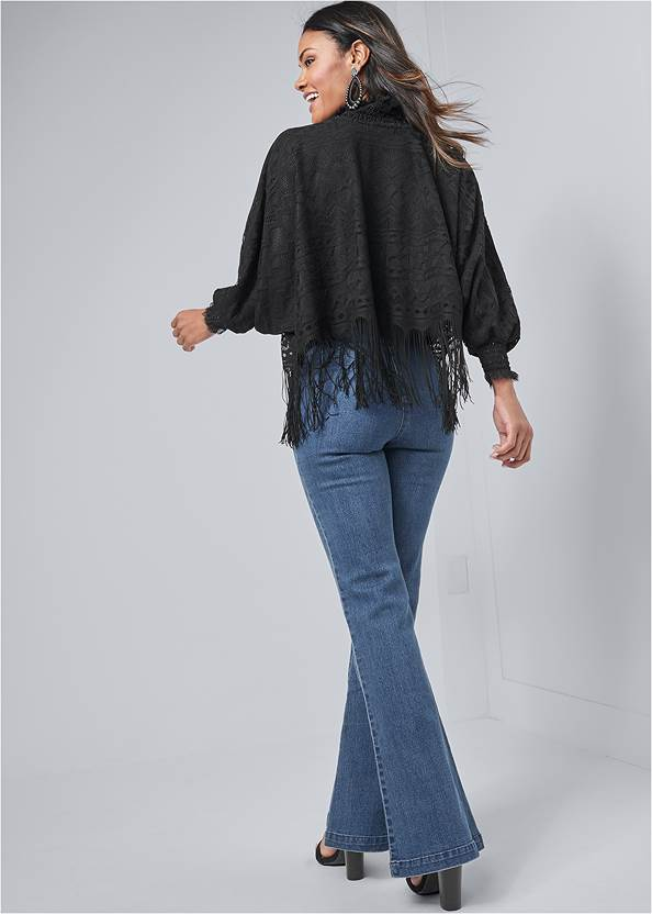 Back View Fringe Detail Lace Top