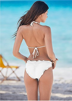 ruffle scrunch back bottom