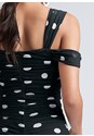 Alternate View Polka Dot Mesh Mini Dress