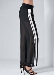 Alternate View Side Stripe Sheer Pants