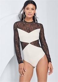 Alternate View Lace Detail Bodysuit