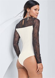 Alternate View Lace Detail Bodysuit