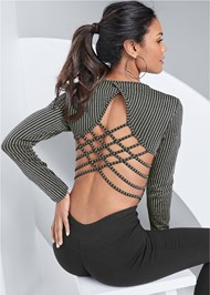 Alternate View Strappy Back Bodysuit