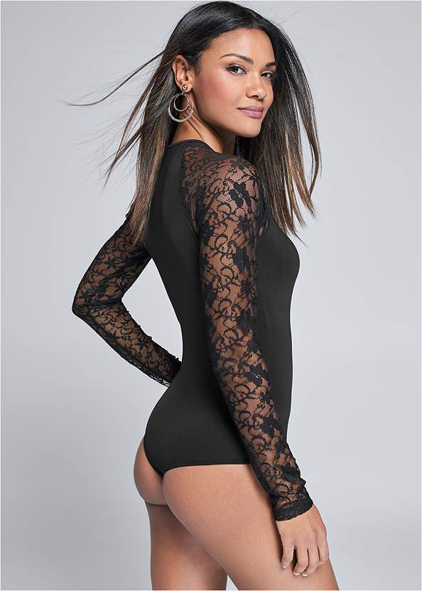 Alternate View Lace Sleeve Bodysuit