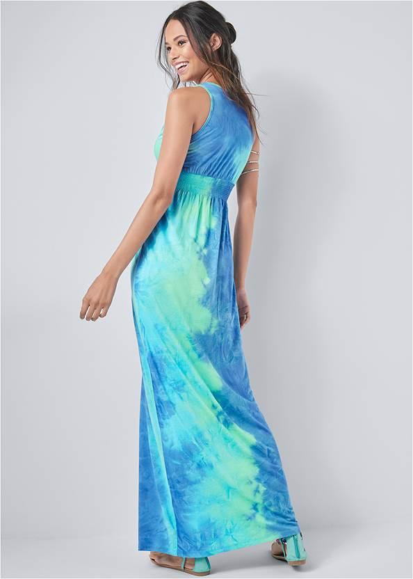 Back View Tie Dye Maxi Dress