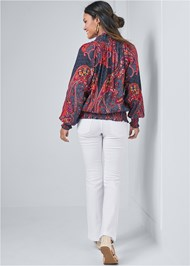 Back View Paisley Top
