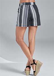 Back View Striped Shorts