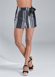 Front View Striped Shorts