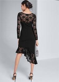 Alternate View Asymmetrical Lace Dress