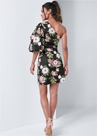 Alternate View Floral One Shoulder Dress