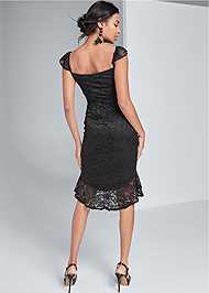 Alternate View High Low Lace Mini Dress