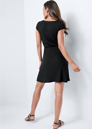 Alternate View Square Neck Ribbed Dress