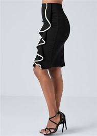 Alternate View Ruffle Detail Skirt