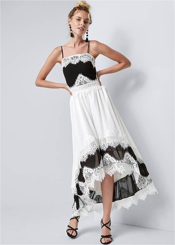 High Low Lace Detail Dress