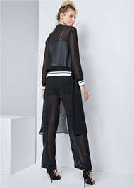 Alternate View Stripe Trim Sheer Jacket