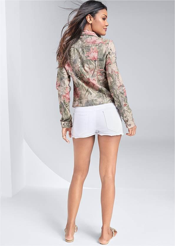 Back View Reversible Denim Jacket