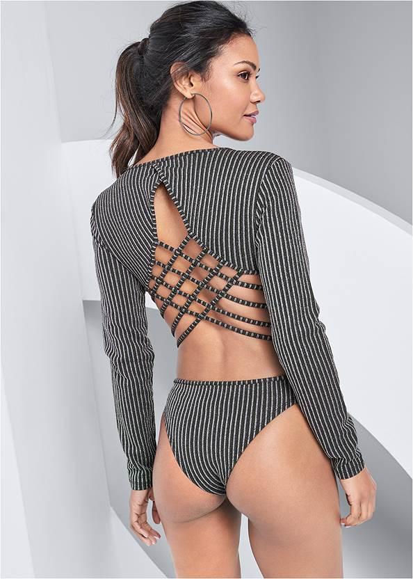 Alternate View Strappy Back Bodysuit