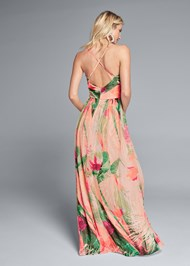 Alternate View Tropical Print Gown