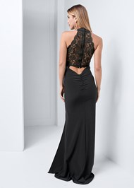 Alternate View Lace Back Detail Gown