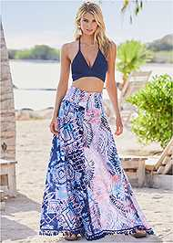 Alternate View Wide Leg Pant Cover-Up